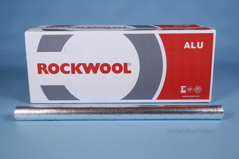 Rohrisolierung 54 x 20 mm Steinwolle RS800 Rockwool WLG 0,035 alukaschiert