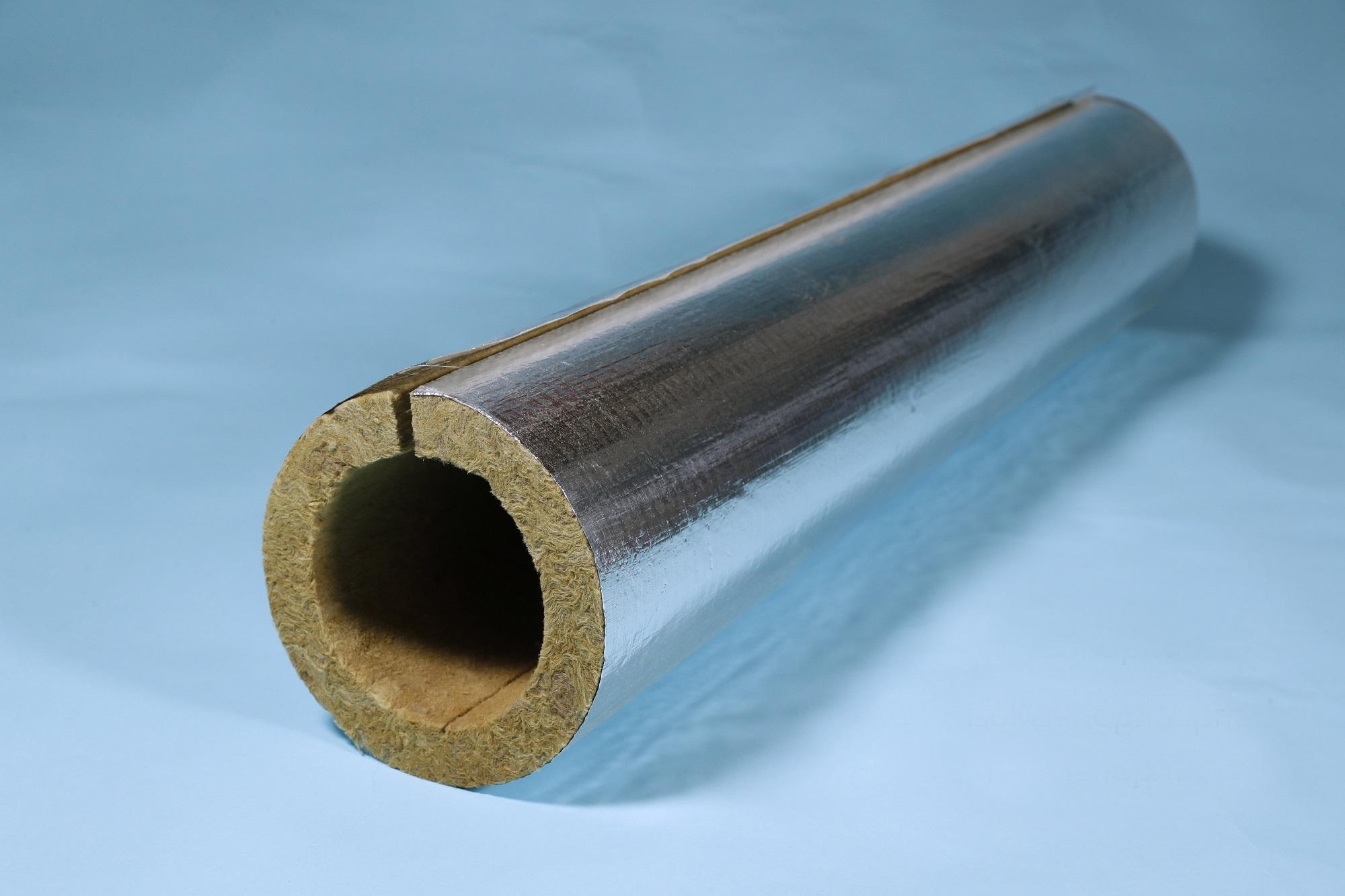 Blechmantel 150 mm für Kaminrohr Rohrisolierung Rohrschale Rockwool 1 m verz